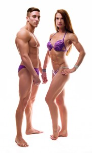 Couple showing their perfect bodies